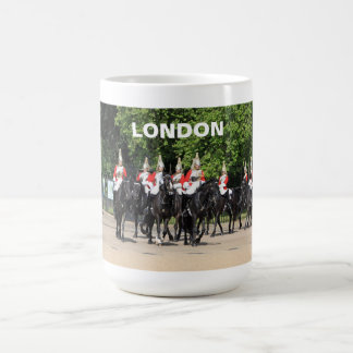 Household cavalry mounted soldiers in london photo basic white mug