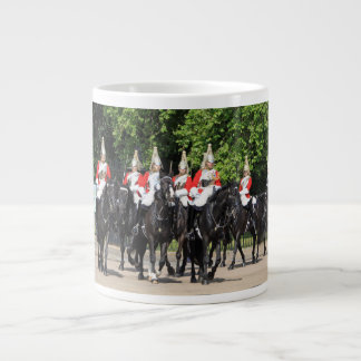 Household Cavalry mounted soldiers in London photo Large Coffee Mug