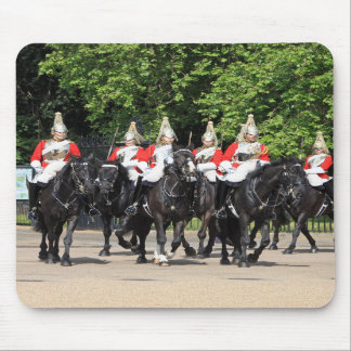 Household Cavalry mounted soldiers in London photo Mouse Pad
