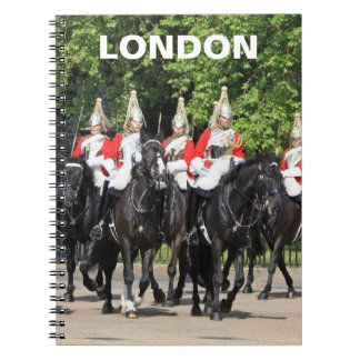 Household Cavalry mounted soldiers in london photo Spiral Notebook