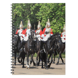 Household Cavalry mounted soldiers in london photo Notebook