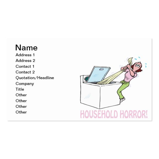 Household Horror Business Card Template