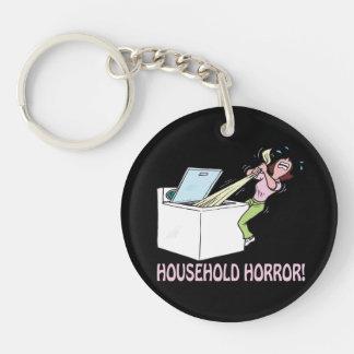 Household Horror Single-Sided Round Acrylic Key Ring