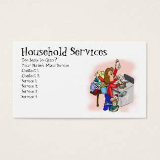 Household Services Business Card