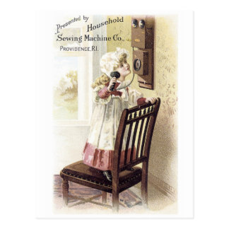 Household Sewing Machine Trading Card
