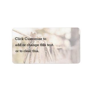 Household Themed, Vintage Line Up Wooden Clip Hang Address Label