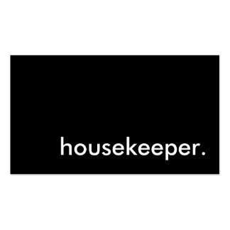 housekeeper. business card templates