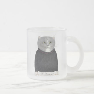 Housekeeper Cat Frosted Mug