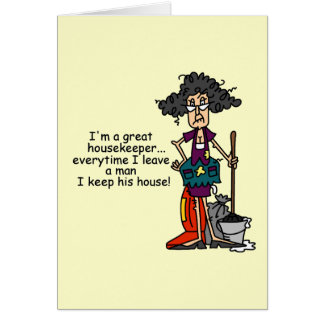 Housekeeper Humor Card