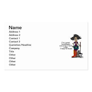 Housekeeper Humor Pack Of Standard Business Cards
