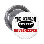 Housekeeper Pinback Button