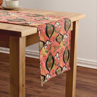 Houseplants on Orange Fifties Style | Mid-Century Short Table Runner