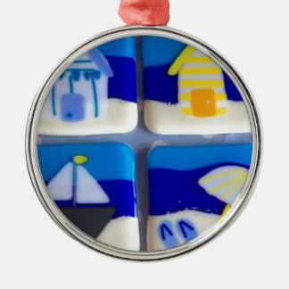 Houses 1 metal ornament