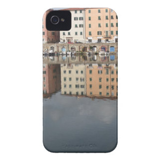 Houses and boats are reflected in the water iPhone 4 Case-Mate cases