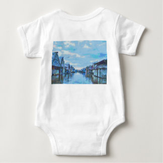 Houses and canal baby bodysuit