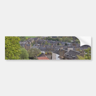 Houses and meadows as seen from a height bumper sticker
