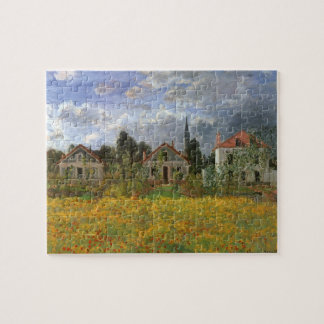 Houses at Argenteuil by Claude Monet, Vintage Art Puzzle