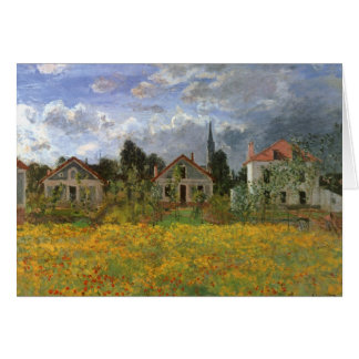 Houses at Argenteuil, Monet, Vintage Impressionism Greeting Cards