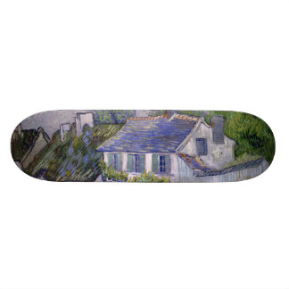 Houses at Auvers by Vincent Van Gogh Skateboard