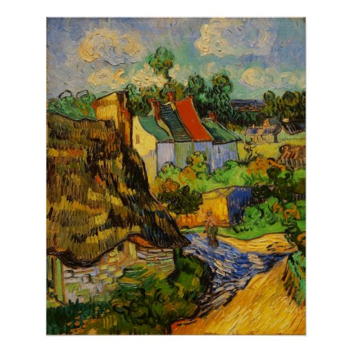 Houses At Auvers Poster