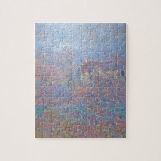 Houses at Falaise in the Fog by Claude Monet Jigsaw Puzzle