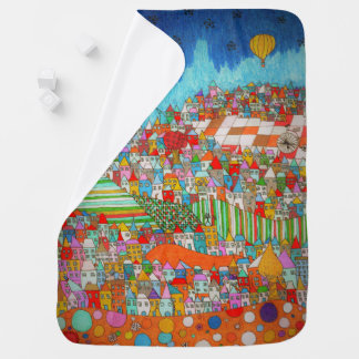 Houses. Blanket for Baby