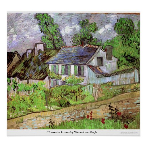 Houses in Auvers by Vincent van Gogh Posters
