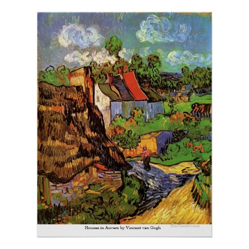 Houses in Auvers by Vincent van Gogh Print