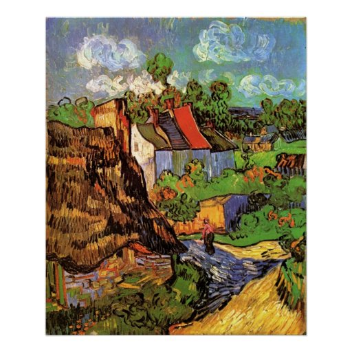 Houses In Auvers Poster