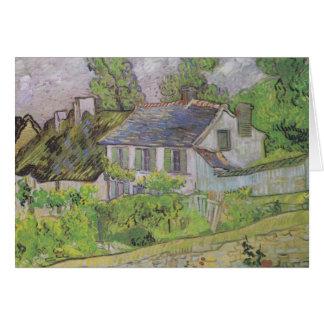 Houses in Auvers - Van Gogh (1890) Card
