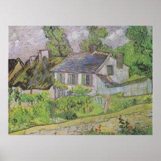 Houses in Auvers - Van Gogh 1890 Print