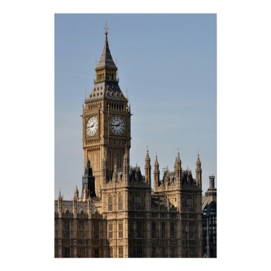 Houses of Parliament and Big Ben Uk Poster