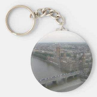 Houses of Parliament Basic Round Button Key Ring
