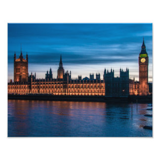 Houses of Parliament & Big Ben, London, England Photo Print