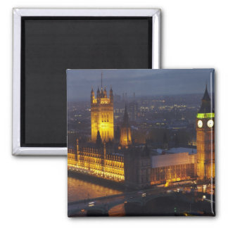Houses of Parliament, Big Ben, Westminster Square Magnet