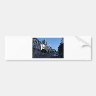 Houses on a street in San Francisco, California Bumper Sticker