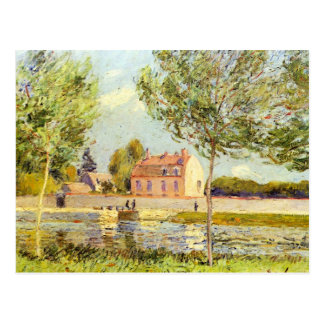 Houses on the banks of the Loing by Alfred Sisley Postcard