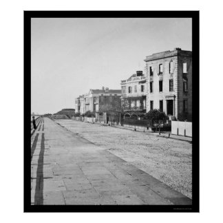 Houses on the Battery in Charleston, SC 1865 Poster