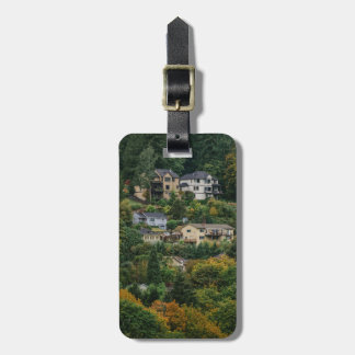 Houses on the hill luggage tag