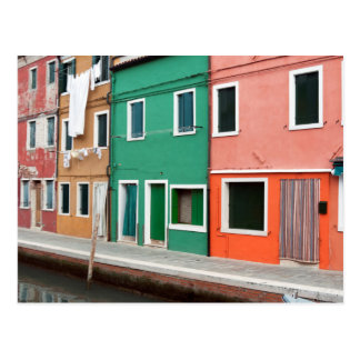 Houses on the waterfront postcard