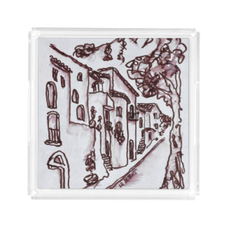 Houses | Saint-Guilhem-Le-Desert, France Acrylic Tray