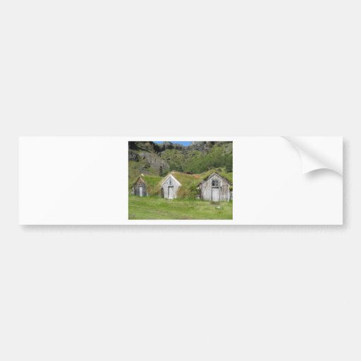 Houses with grass roof bumper sticker