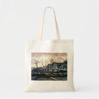 Houses with Thatched Roofs by Vincent Van Gogh Canvas Bags