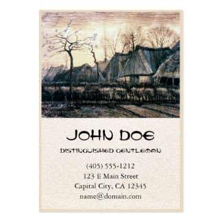 Houses with Thatched Roofs by Vincent Van Gogh Pack Of Chubby Business Cards