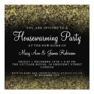 Housewarming Party Gold Glitter Dust Card