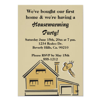 Housewarming Party House & Key Card