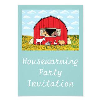 Housewarming Party Invitation farm animals