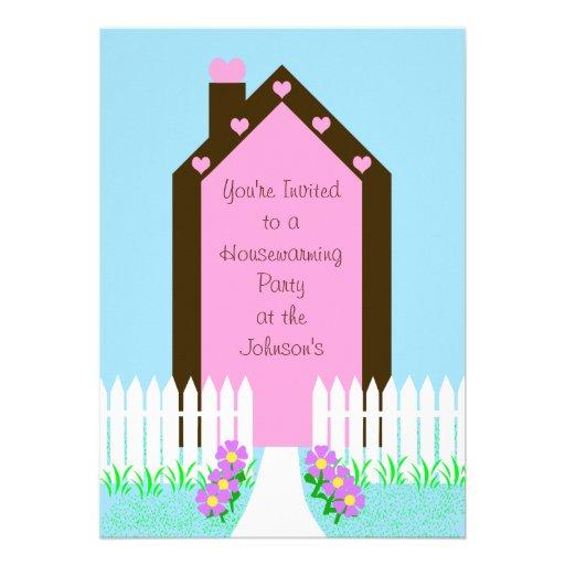 Housewarming Party Invitation -- House Invite Announcement