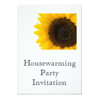 Housewarming Party Invitation sunflower