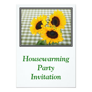 Housewarming Party Invitation sunflowers